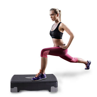 Aerobic Stepper 27″ Cardio Platform Fitness Step 4″- 6″ Workout Exercise Risers