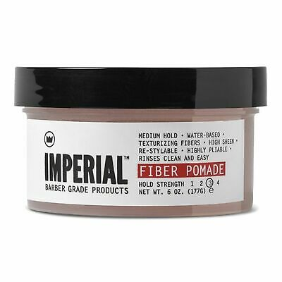 NEW IMPERIAL BARBER FIBER POMADE 177gm Mens Water Based Styling Product