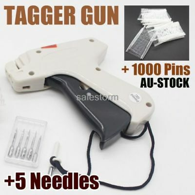 HOT Clothes Garment Price Label Tag Standard Tagging Gun+1000 Barbs+5 Needles OZ
