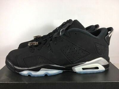 new arrival 88050 8fe88 Air Jordan 6 VI Retro Low GS Sz 6,5Y Black Metallic Silver White 6.5