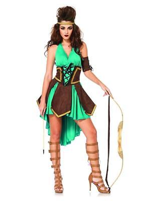 Celtic Warrior Girl Medieval Princess Fancy Dress Halloween Sexy Adult Costume