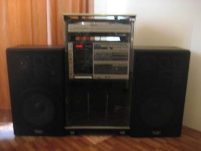 Fisher Hifi Hi Fi system w/ turntable record player Made in Japan Free Cabinet