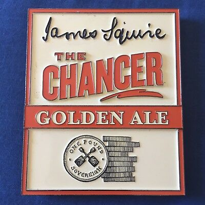 James Squire The Chancer Golden Ale Beer Tap Badge, Decal, Top