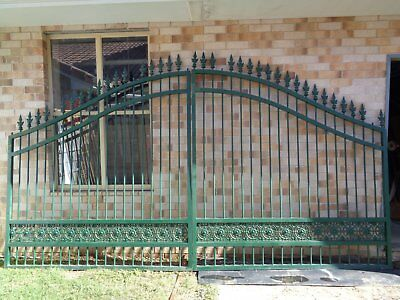 Pair of decorative aluminium front gates.