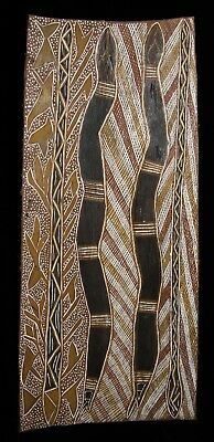 LARGE Aboriginal Bark painting by SIGNIFICANT artist  Nhulmarmar   1967