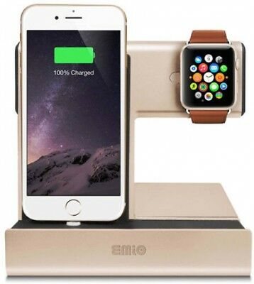 Emio 00230 Smart Watch Charge Dock For Apple Watch And IPhone, Silver