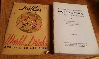"""RARE """"Cocktail Bill"""" Boothby's World Drinks and How To Mix Them Original 1934"""