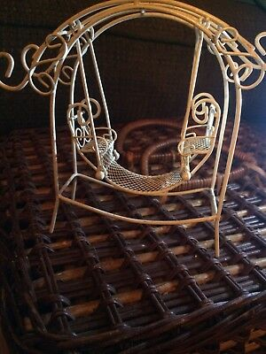Vintage 5 Inch High Metal / Wire Decorative Swing