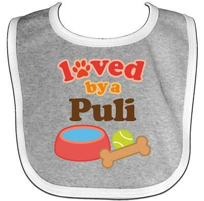 Inktastic Puli Loved By A (Dog Breed) Baby Bib Dogs Pets Mom Dog Gift Clothing