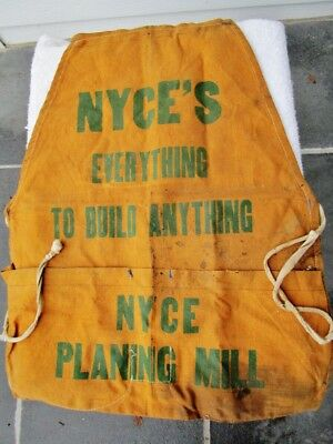 NYCE PLANING MILL COMPANY, Doylestown, PA - Vintage Lumber Millwork Store Apron