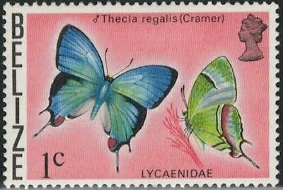 Lot 4760 - Belize - 1974 1c Butterfly mint hinged definitive stamp