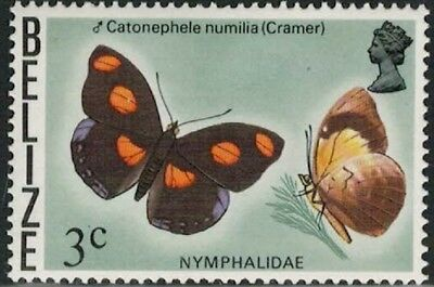Lot 4762 - Belize - 1974 3c Butterfly mint hinged definitive stamp