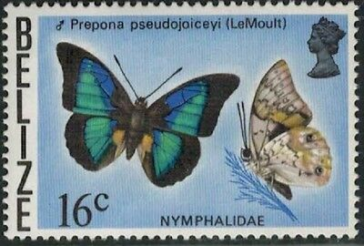Lot 4766 - Belize - 1974 16c Butterfly mint hinged definitive stamp