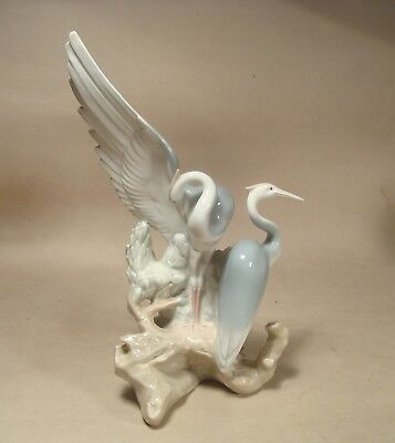 Rare NAO Figure of Cranes, Made in Spain, LLadro Porcelain, Herons or Egrets ?