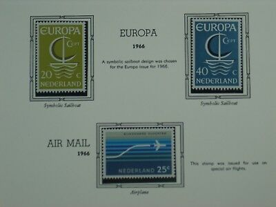 Netherlands 1966 stamps Europa,Air mail,Child welfare 8 stamps MNH OG