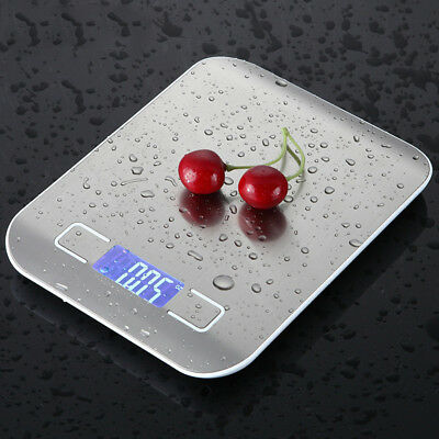 10/5kg Stainless Steel Digital LCD Electronic Kitchen Food Weighing Scales gr3r