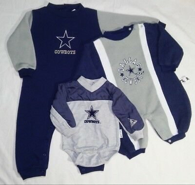 1990s MIGHTY MAC Baby Dallas COWBOYS Gear Outfits Sleeper Longall Vintage Unisex