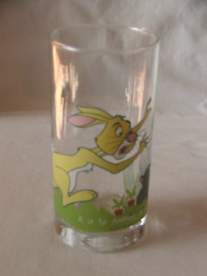 Vintage IXL Collector Glass ~ Winnie the Pooh ~ Rabbit ~ Limited Edition #5 of 6