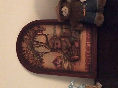 Vintage old smokey the bear wooden park sign advertisement rare wild fire