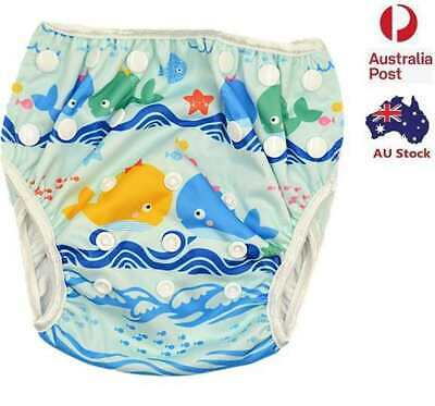 New Reusable Baby Boy Boyish Swim Nappy Nappies 3-15kg (No Liners Needed )(S136)