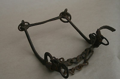 Antique Rare Ottoman Empire Wrought Ornate Horse Mouth Bridle Snaffle Bit