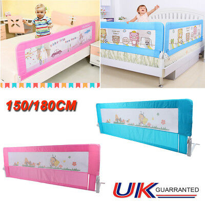 150/ 180cm Folding Child Toddler Bed Rail Safety Protection Guard Blue/ Pink UK