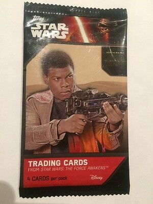 """L@@k Topps Star Wars """"the Force Awakens"""" Factory Sealed Packet"""