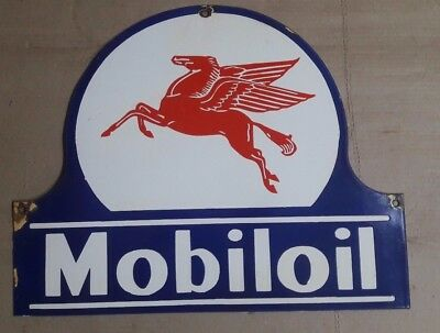 old vintage  PORCELAIN MOBIL OIL ARCTIC  enamel sign  10 X 13