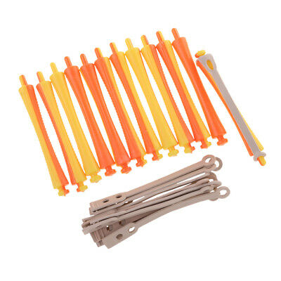 Blesiya Salon Perm Rods Lot 12 Curlers for Curling Styling Tool 1.6x9 cm