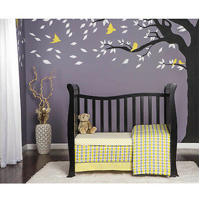 4-in-1 Convertible Mini Crib Toddler Bed Baby Bed Nursery Furniture NEW Black