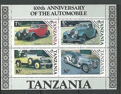 1986 100 years of Autos Mini Sheet  Complete MUH/MNH as Purchased at Post Office