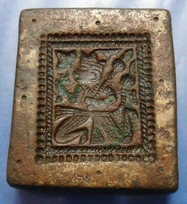 Vintage - India Hand Engraved Devine - Jewelry Maker Beautiful  Die Mold Nd032