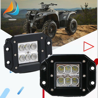 2PCS 3inch FLOOD Beam LED Pod  LED Work Light Bar front bumper Offroad 12 24V