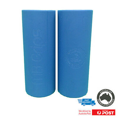 Barbell Grips | Dumbbell |  Large Grips | Thick Grips | Blue Fat Barbell Grip