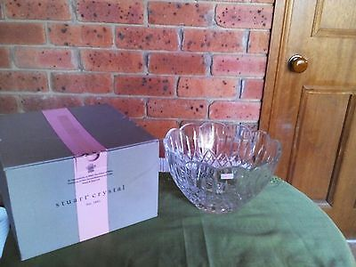 "BRAND NEW IN BOX:SIGNED STUART CRYSTAL ""Shaftesbury"" LARGE 23cm/9"" Master Bowl"