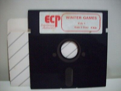 Ecp - Winter Games -  Commodore 64  /128 Game Floppy Disc Vintage Collectable