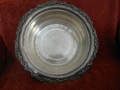 Ascot Sheffield Oneida Community Footed Silver Plate Serving Bowl Silverplate
