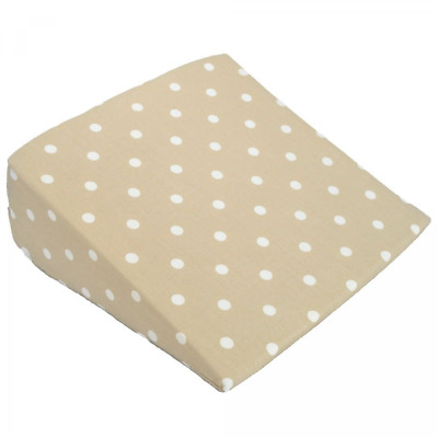 Cuddles Collection Dotty Wedge Pillow (Cream)