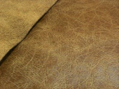 Dark Brown Squares Real Leather 15/'/' x 15/'/' Offcuts Pieces Homemade /&Car Repairs