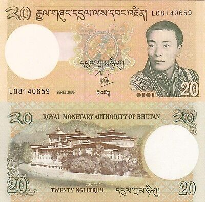 Bhutan 20 Ngultrum (2006) - King/Palace/p30a UNC