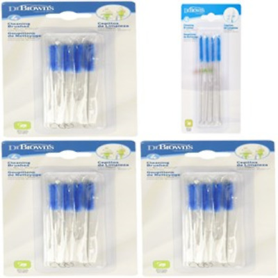 Cleaning Brush Baby Bottle Cleaner Handle Long Easy Mom Milk 4 Pack Dr. Browns