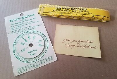 Vintage 1961 New Holland Dairy Cow Tape Measure