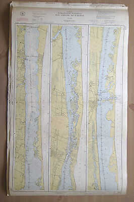 "Vtg 1949 C&GS Nautical CHART #845 INTRACOASTAL WATERWAY FL 24"" x 38.5"""