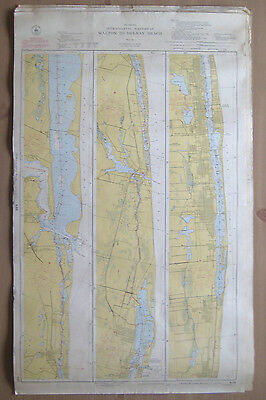 "Vtg 1949 C&GS Nautical CHART #846 INTRACOASTAL WATERWAY FL 24"" x 38.5"""