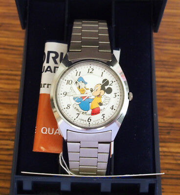 Lorus Mickey Mouse & Donald Duck Disney Cartoon Character Watch in Original Box