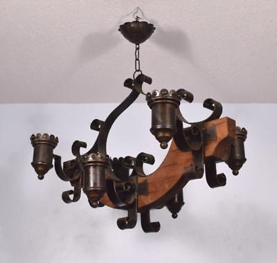 *Vintage French Castle Chandelier Hanging Lamp Aix Arms