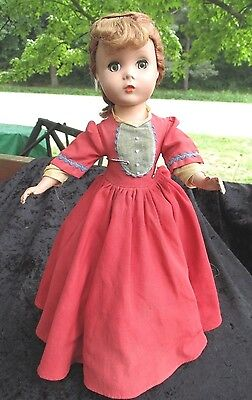 "Vintage Madame Alexander 14"" LIttle Women Jo Maggie Face Doll - ORIGINAL CLOTHES"