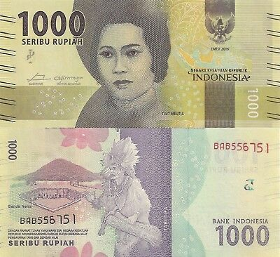 Indonesia 1000 Rupiah (2016) - New Series Issue/pNew UNC