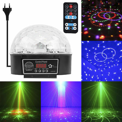 Disco 9 LED Lichteffekt Discokugel Magic RGB Projektor Party Clubs KTV Bar Neu