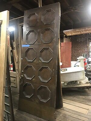 Massive Antique Walnut Entry Door Castle Door John S Newberry Door